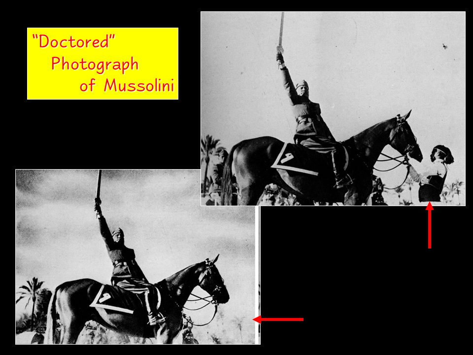 Doctored Photograph Photograph of Mussolini