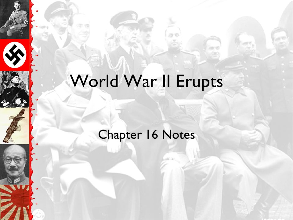 World War II Erupts Chapter 16 Notes