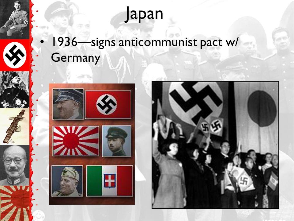 Japan 1934—violates Washington Naval Conference & builds up navy