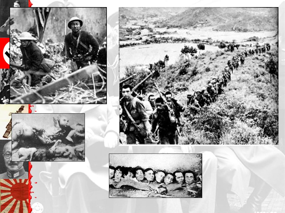 Japan 1937--Invades Manchuria & northern China to gain resources