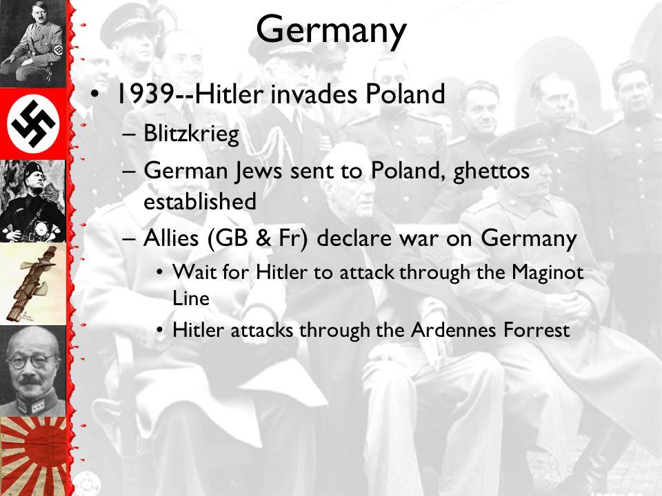 Germany & Italy form alliance
