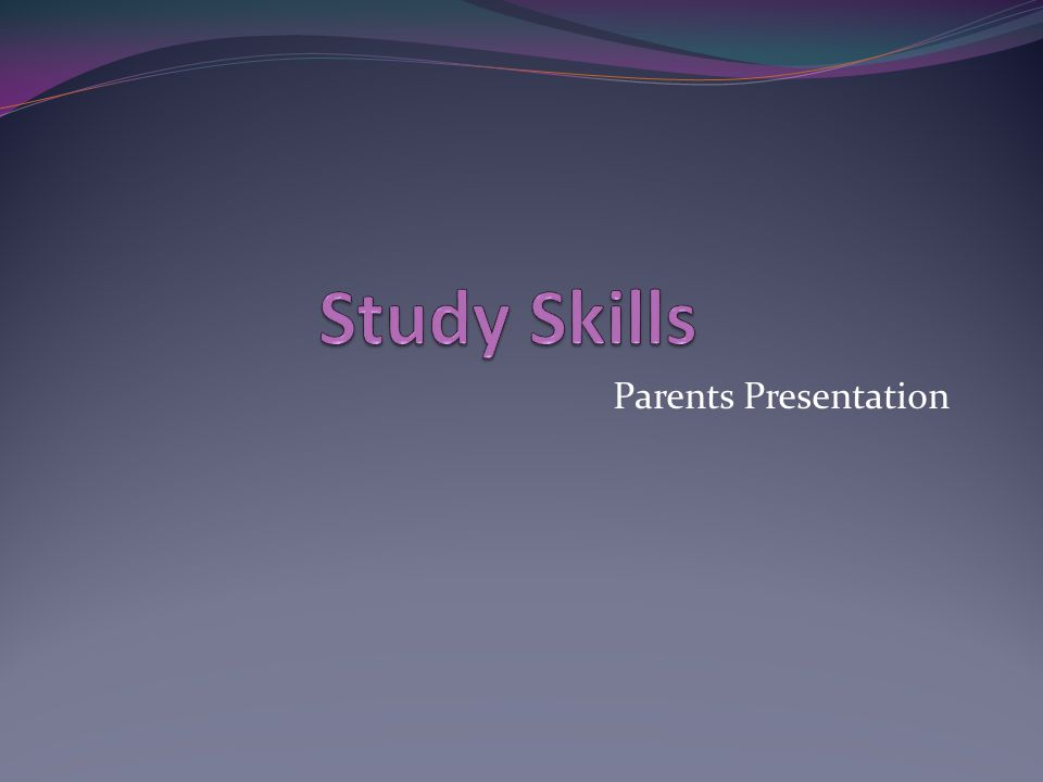 Parents Presentation
