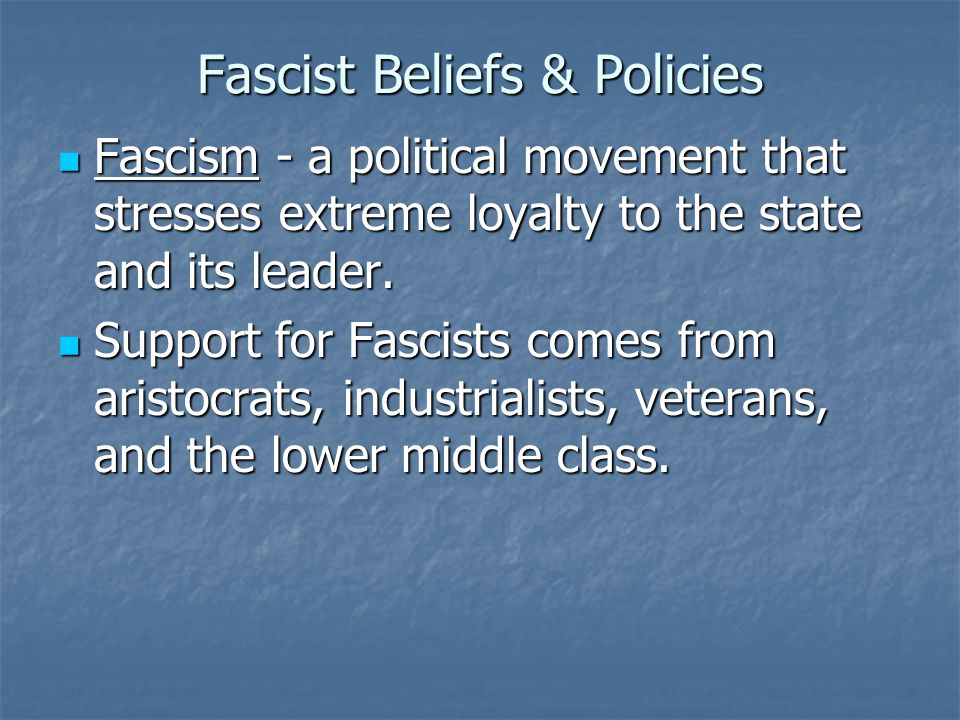 Fascism similarities to Communism 1.Ruled by dictator & one party system 2.
