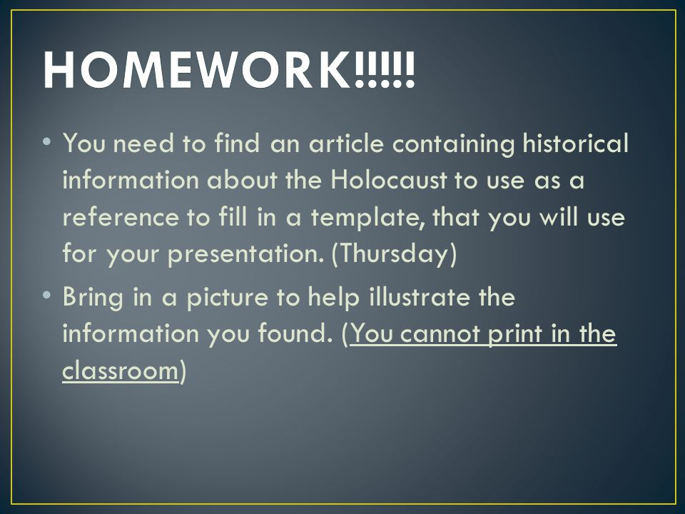Your poster must include : All sections of the graphic organizer, filled in.