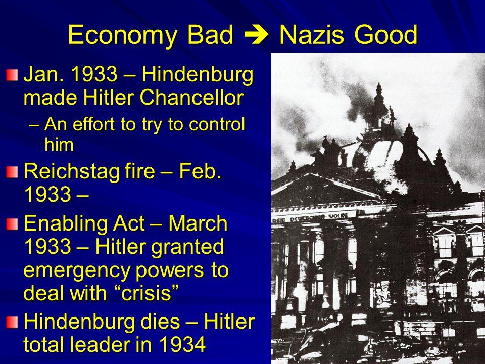 It is all bad. Nazis rolling across Europe, N.