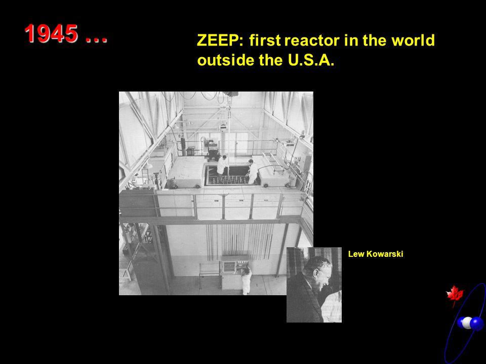 1945 … ZEEP: first reactor in the world outside the U.S.A. Lew Kowarski