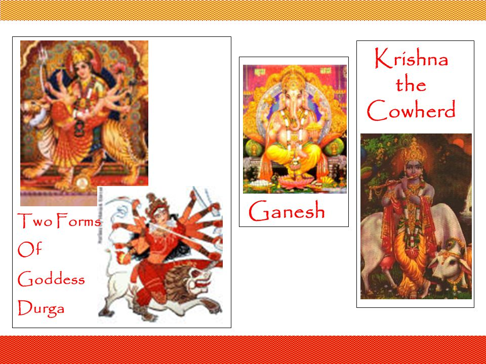 Krishna the Cowherd Ganesh Two Forms Of Goddess Durga