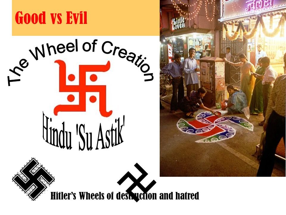Good vs Evil Hitler's Wheels of destruction and hatred
