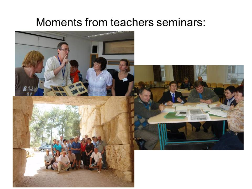 Moments from teachers seminars: