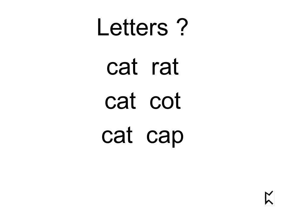 Letters cat rat cat cot cat cap