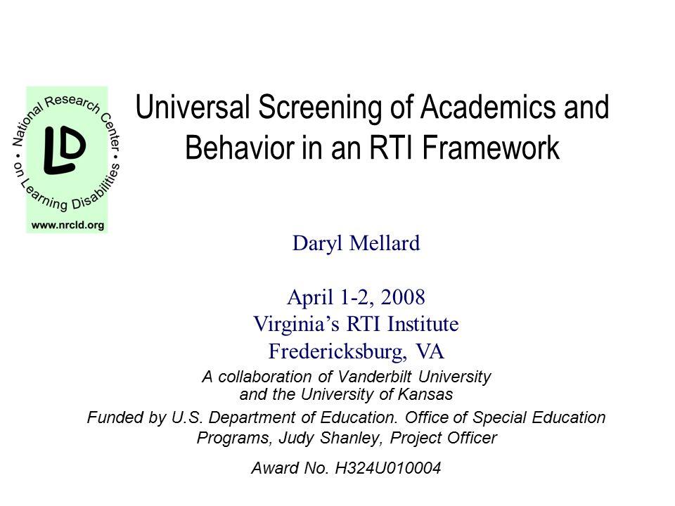 Acknowledgements from previous presentations Marcia Invernizzi, U.