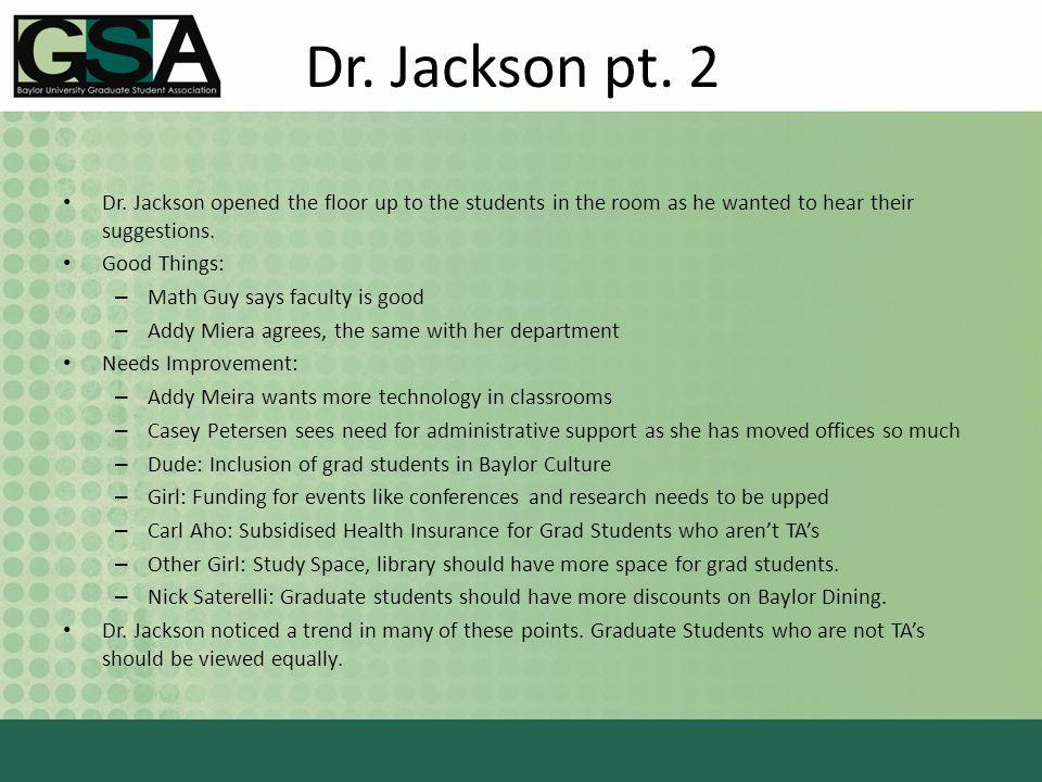 Dr. Jackson pt. 2 Dr.