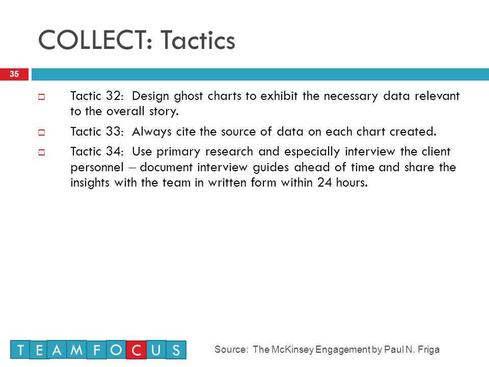COLLECT: Tactics 35  Tactic 32: Design ghost charts to exhibit the necessary data relevant to the overall story.