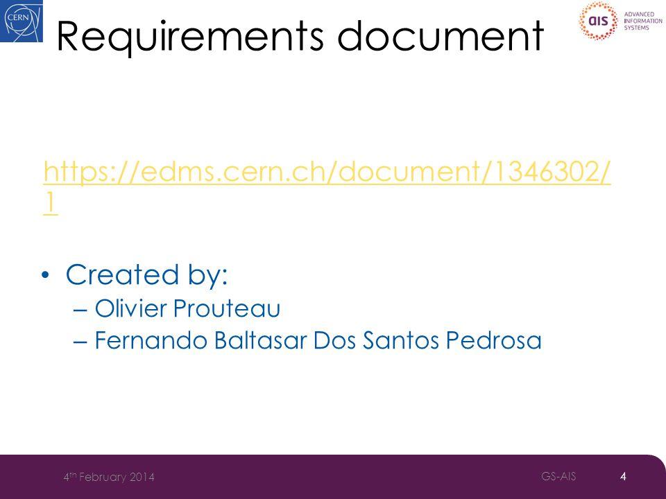 AOC Approval process 5 4 th February 2014 GS-AIS