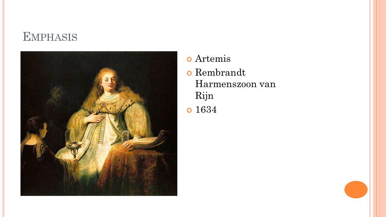 E MPHASIS Artemis Rembrandt Harmenszoon van Rijn 1634