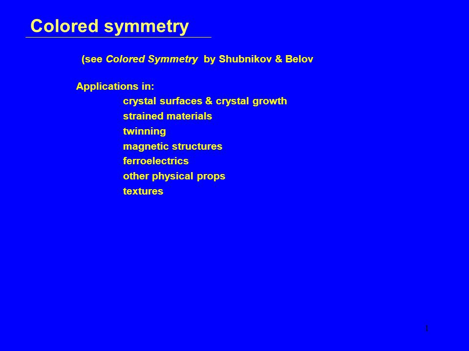 12 Colored symmetry Operations – 4
