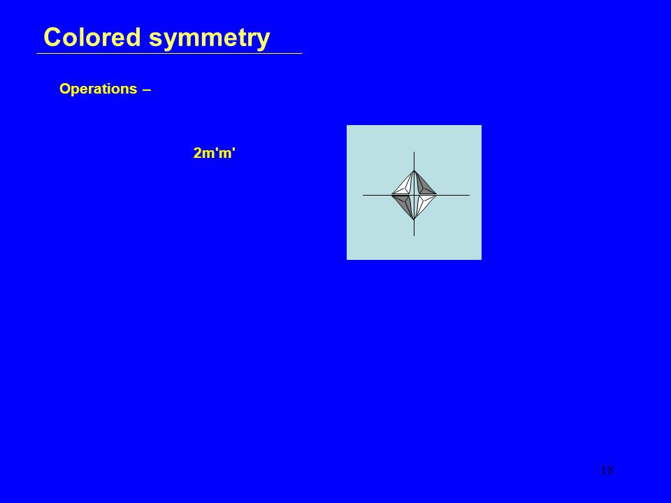 18 Colored symmetry Operations – 2m m