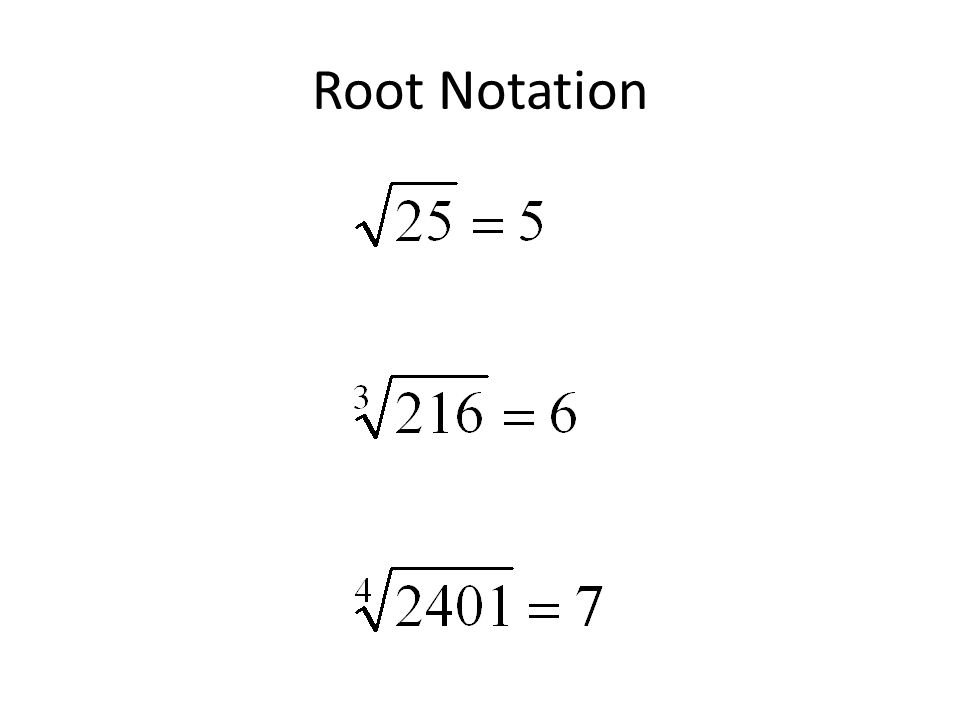 Root Notation