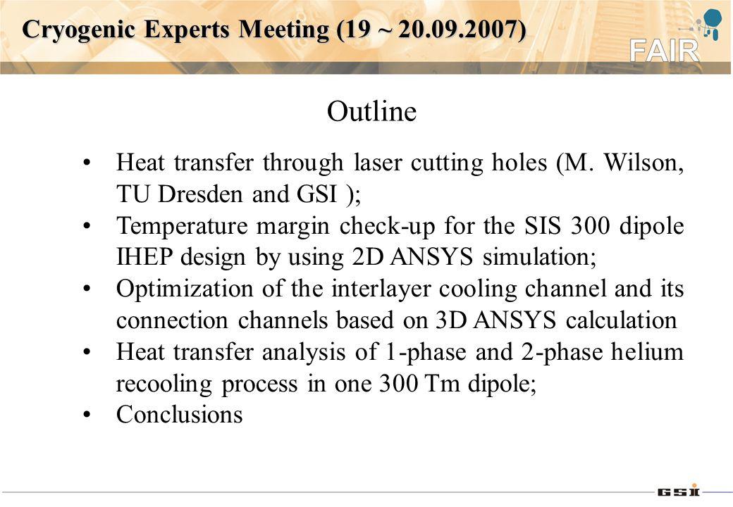 Heat transfer through laser cutting holes (M.