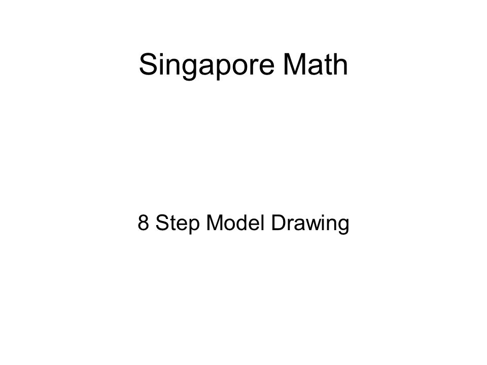 Singapore Math 8 Step Model Drawing