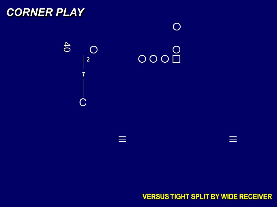 C 7 CORNER PLAY VERSUS TIGHT SPLIT BY WIDE RECEIVER _ _ _ _ _ _ 40 2