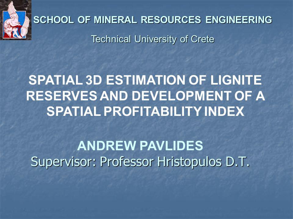 Supervisor: Professor Hristopulos D.T.
