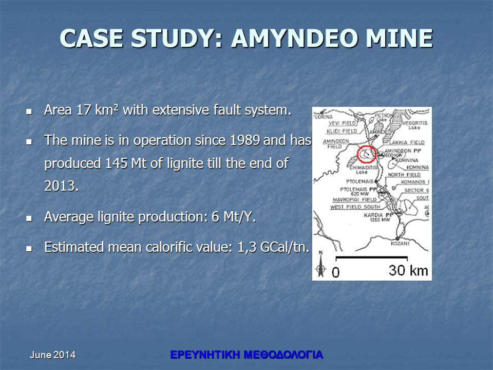 June 2014 ΕΡΕΥΝHΤΙΚΗ ΜΕΘΟΔΟΛΟΓΙΑ CASE STUDY: AMYNDEO MINE Area 17 km 2 with extensive fault system.