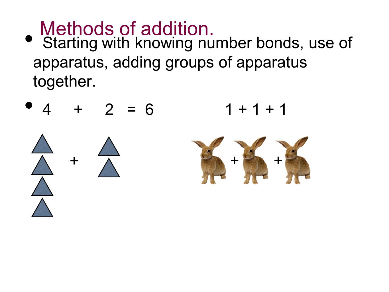 Methods of addition.