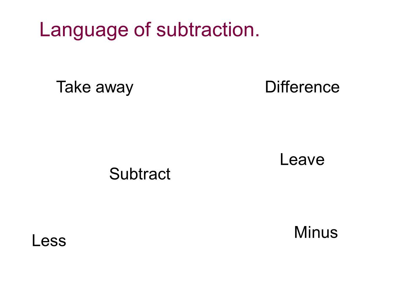 Methods of subtraction.
