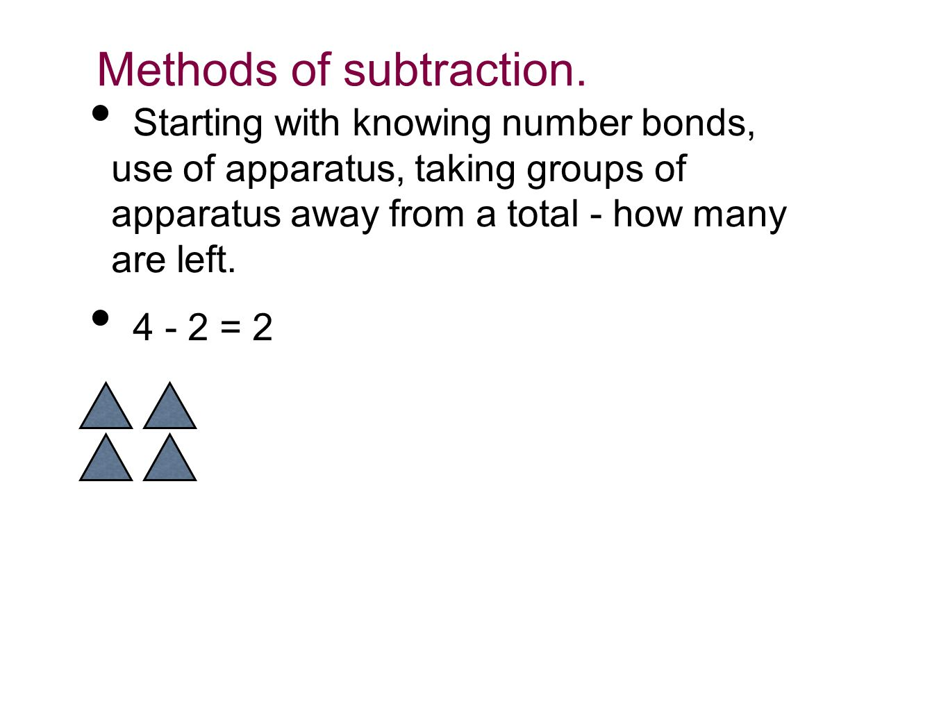 Methods of subtraction.