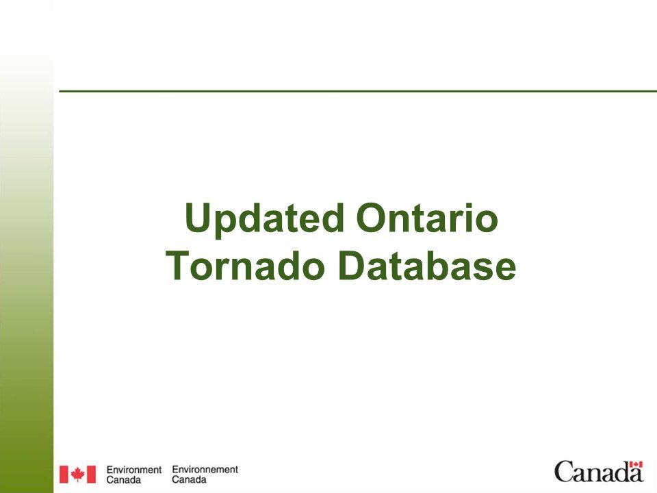 Updated Ontario Tornado Database