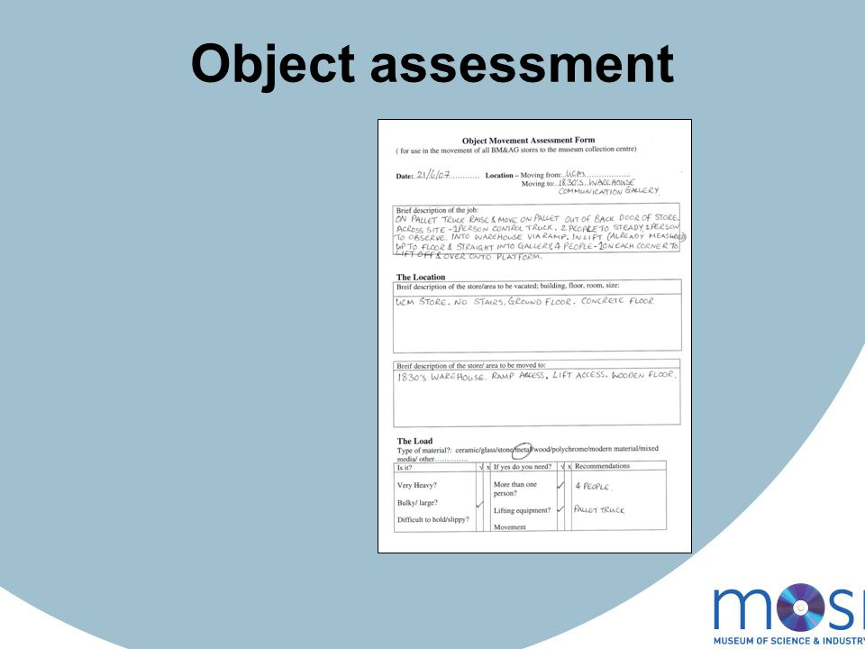 Object assessment
