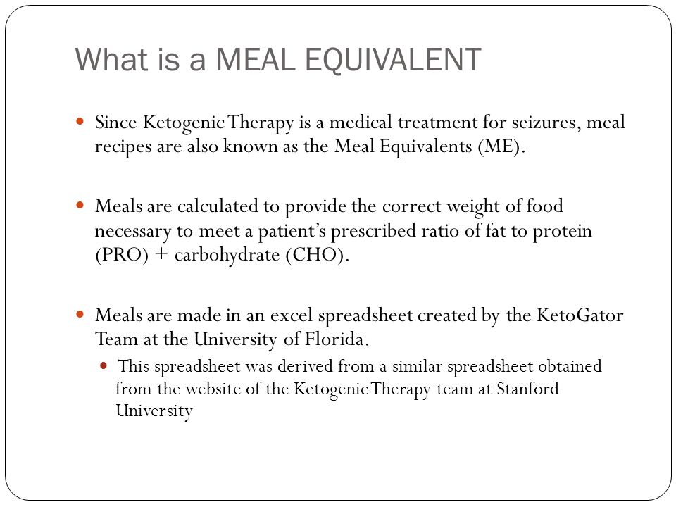 What is a MEAL EQUIVALENT.The Meal Equivalent spreadsheet is divided into two pages.