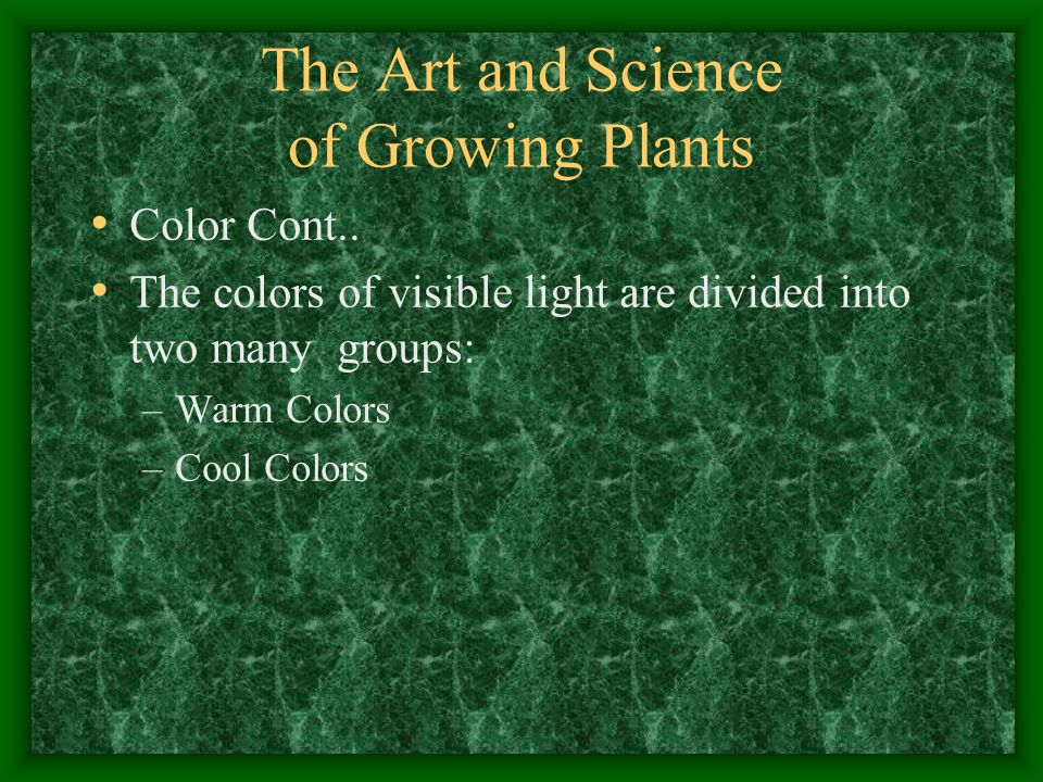 The Art and Science of Growing Plants Color Cont..