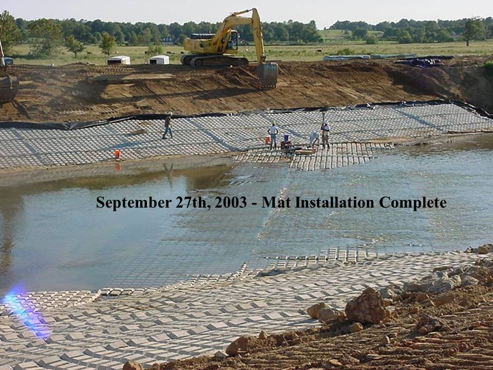 September 27th, 2003 - Mat Installation Complete