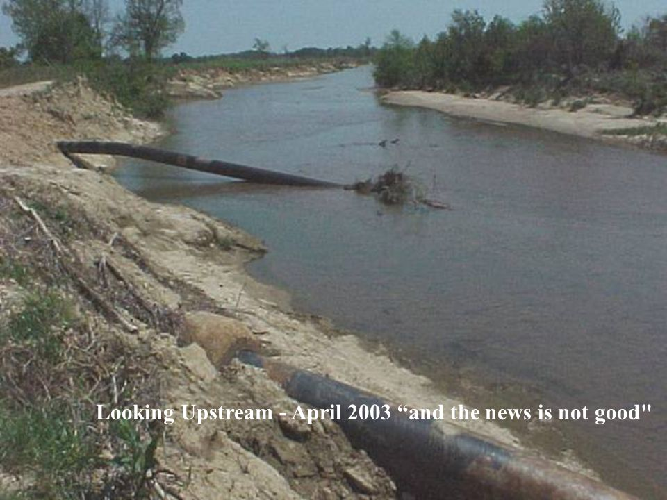 Looking Upstream - April 2003 and the news is not good