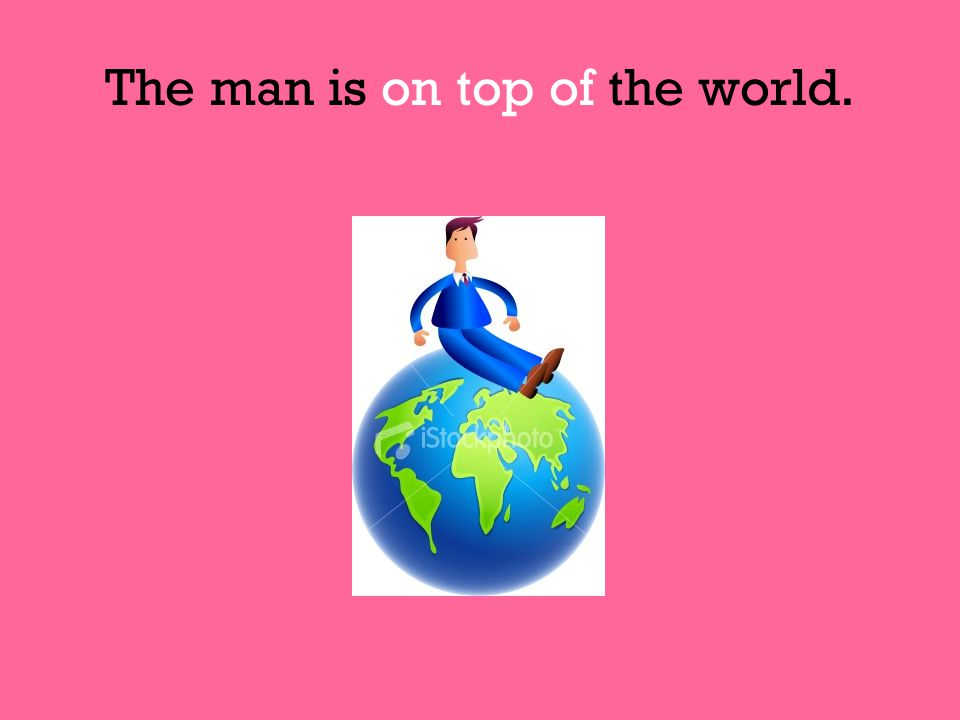 The man is on top of the world.
