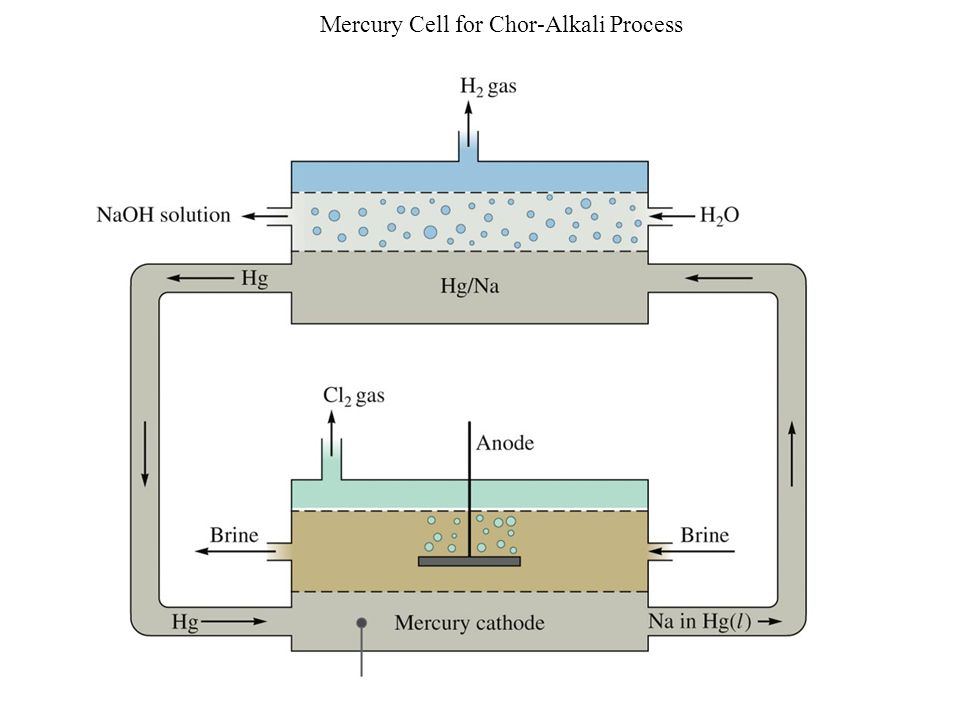 Mercury Cell for Chor-Alkali Process