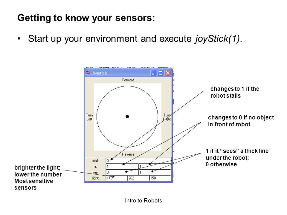 Intro to Robots How Sensitive is Scribbler.
