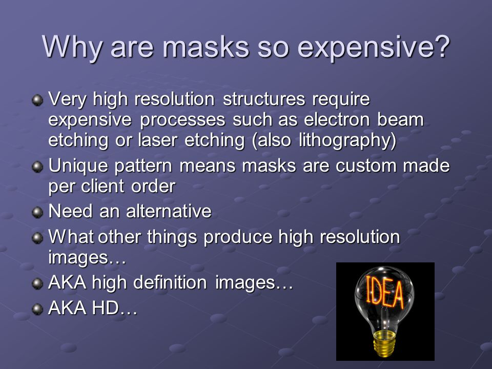 Why are masks so expensive.