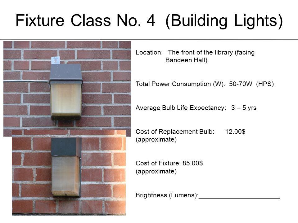 Fixture Class No.15 (Building Lights) Location: The inner Quad.