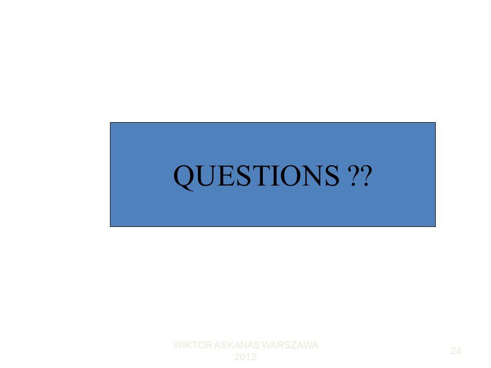 WIKTOR ASKANAS WARSZAWA 2012 24 QUESTIONS