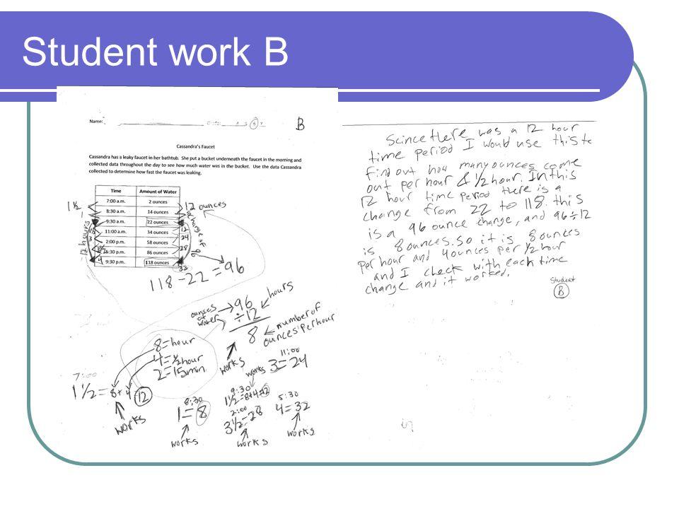 Student work B