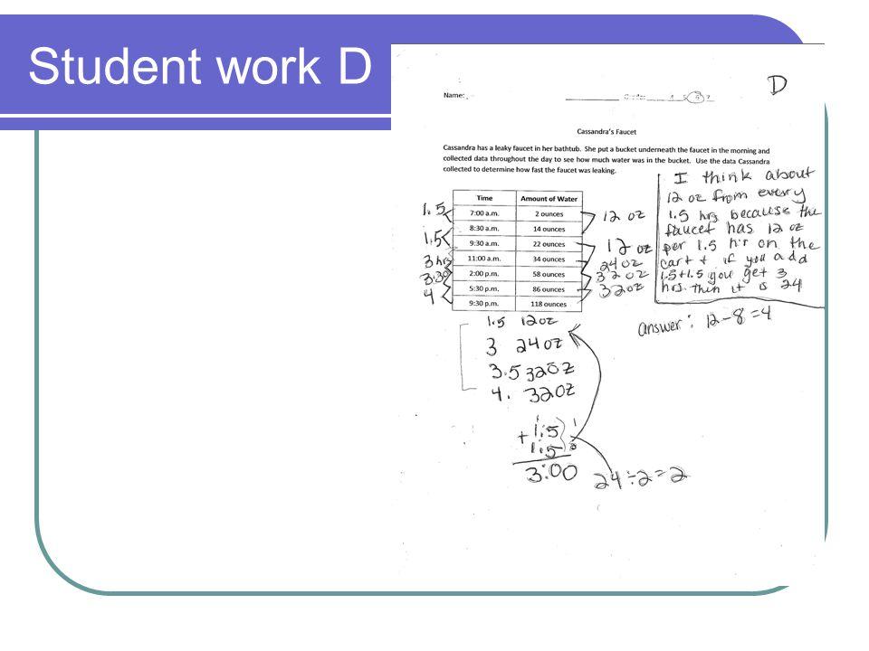 Student work D