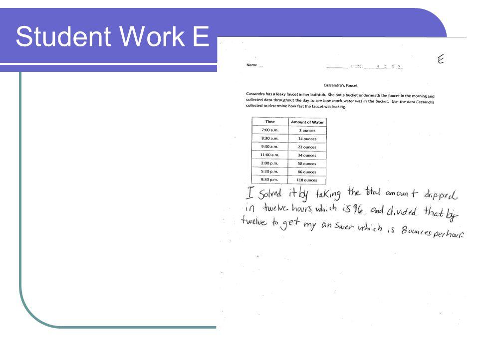 Student Work E