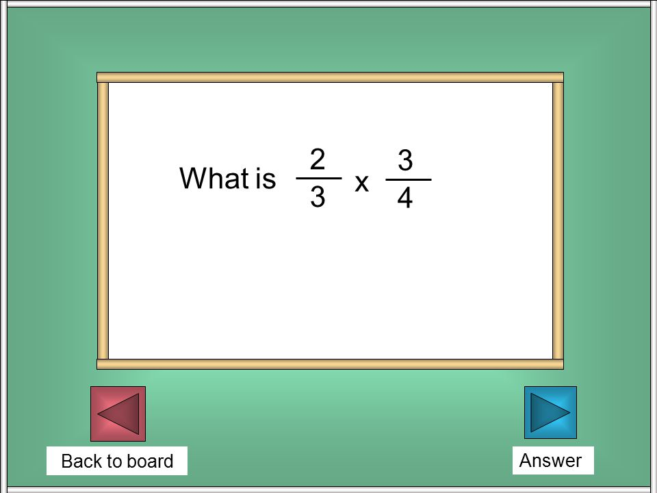 Back to board 3/12 = (1/4) One counter is drawn from the bag at random.