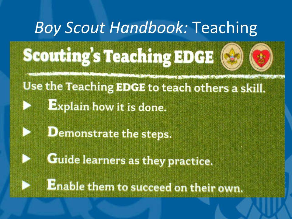 Boy Scout Handbook: Teaching