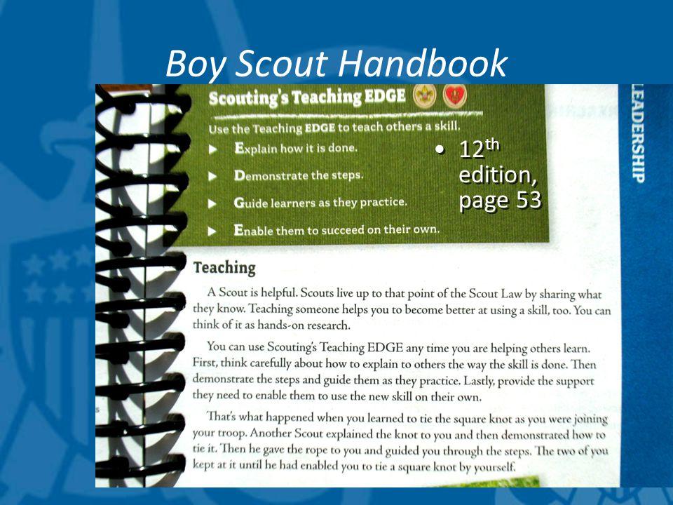 Boy Scout Handbook 12 th edition, page 53