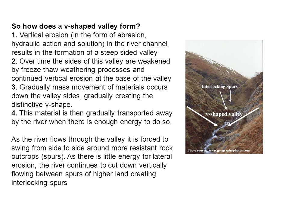 So how does a v-shaped valley form.1.