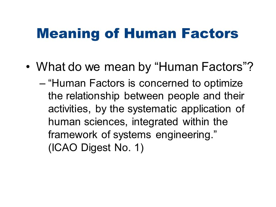 Recommended Reading The Human Factor (Kim Vicente) The Field Guide to Understanding Human Error (Sidney Dekker) Managing the Risks of Organizational Accidents (James Reason) 10 Questions About Human Error (Sidney Dekker)